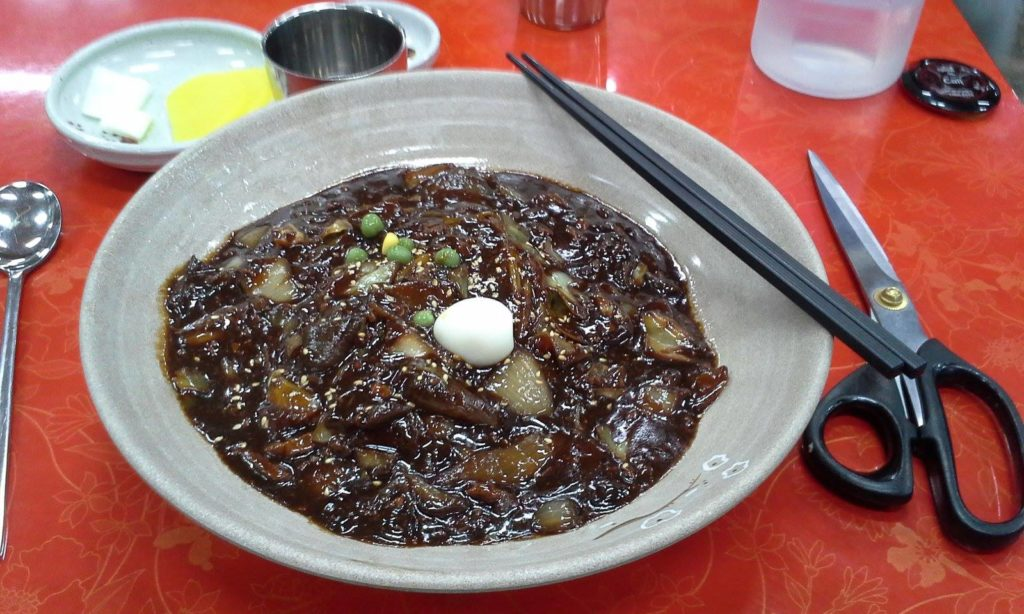 The large jjajangmyeon will definitely fill you up.
